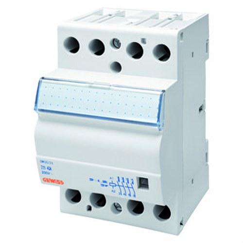 Contacto 90 AM 230V 4 NA 40A con 3 módulos blanco