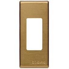 BTICINO 5367/1B Placa en aluminio en color bronce con 1 elemento perforado MAGIC