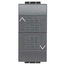 BTICINO L4037 Doble pulsador con bloqueo mecanismo 1 polo 10A LIVING internacional