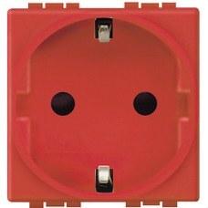 BTICINO L4141R Base schuko 2P+T 10/16A LIVING Livinglight rojo