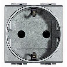 BTICINO NT4141 Base schuko 2P+T 10/16A 250V CA con 2 módulos tech
