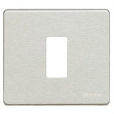 BTICINO 500/1/AL Placa para 1 mecanismo cuadrado MAGIC en aluminio