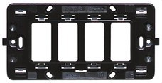 BTICINO 504S Soporte hasta 4 mecanismos caja rectangular MAGIC