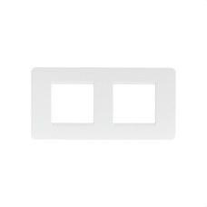 BTICINO AM4802/2BN Placa 2+2 módulos horizontal MATIX en color blanco