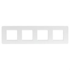 BTICINO AM4802/4BN Placa 2+2+2+2 módulos horizontal MATIX en color blanco