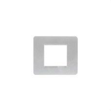 BTICINO AM4802SL Placa con 2 módulos MATIX en color plata