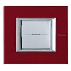 BTICINO HA4802RC Placa 2 módulos AXOLUTE en color rojo china