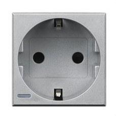 BTICINO HC4141 Base schuko 2P+T 16A 250V Axolute 2 módulos tech