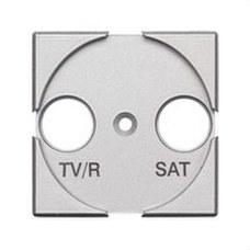BTICINO HC4212 Frontal TV/R-SAT con 2 módulos AXOLUTE en color claro