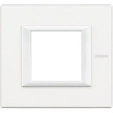 BTICINO HA4802HD Placa con 2 módulos AXOLUTE en color blanco