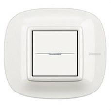 BTICINO HB4802HD Placa con 2 módulos AXOLUTE en color blanco
