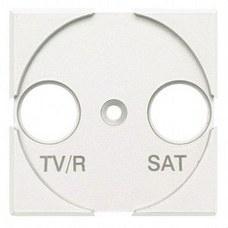 BTICINO HD4212 Frontal TV/R-SAT con 2 módulos en color blanco