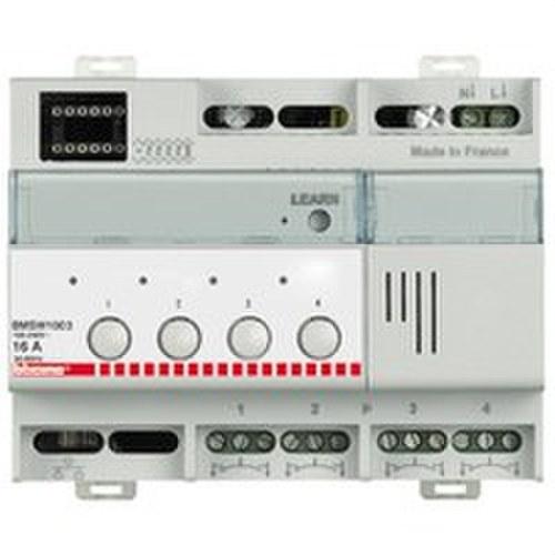 Actuador SCS 4 relés 16A 6 módulos DIN