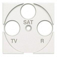 BTICINO HD4207 Frontal TV/R-SAT con 2 módulos AXOLUTE en color blanco