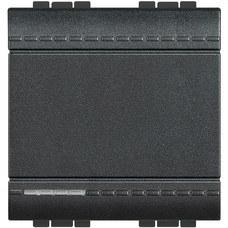 BTICINO L4001M2A Interruptor 1 polo 16A con 2 módulos LIVING en color antracita
