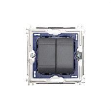BTICINO L4003A Conmutador 1 polo 16A con 1 módulo LIVING en color antracita
