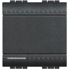 BTICINO L4003M2A Conmutador 1 polo 16A con 2 módulos LIVING en color antracita