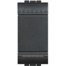 BTICINO L4005A Pulsador 1 polo NO 10A con 1 módulo LIVING en color antracita