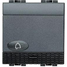 BTICINO L4042M2N Pulsador NO+símbolo campana con 2 módulos LIVING en color antracita