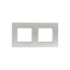 BTICINO LNA4802M2TE Placa Livinglight 2+2 módulos tech