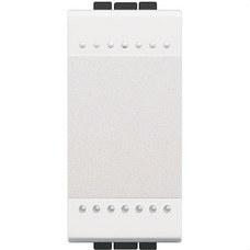BTICINO N4001A Interruptor 1P 16A con 1 módulo en color blanco
