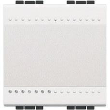BTICINO N4003M2A Conmutador 1P 16A con 2 módulos en color blanco