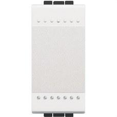 BTICINO N4005A Pulsador NO 1P 10A con 1 módulo en color blanco