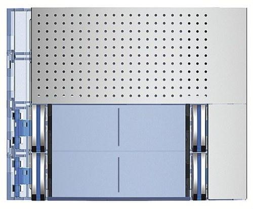 Placa frontal audio basico 4P con 2 contactos ALLMETAL