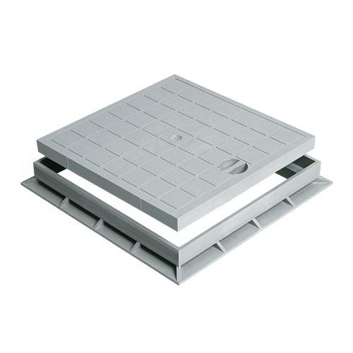 TAPA CON CERCO PEATONAL 550x550 PVC