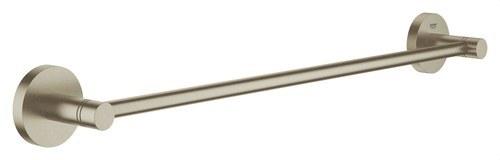 Toallero 504mm Essentials longitud 450 cepillado níquel