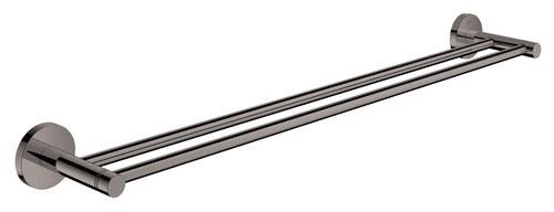 Toallero doble 654mm Essentials longitud 600 grafito duro