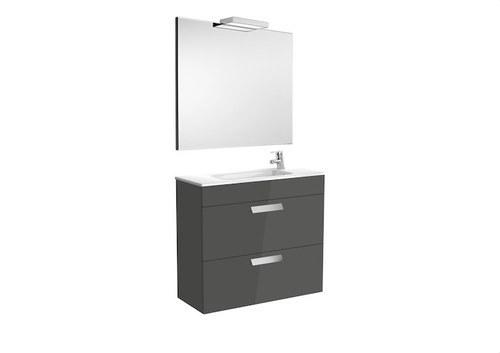 Mueble+espejo+aplique cajón DEBBA 800 roble