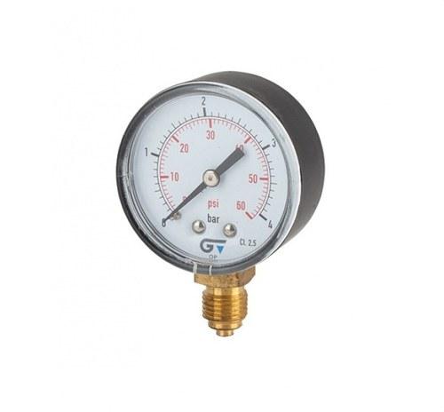 Manómetro diámetro 53 0-16 M-1/4 salida inferior ABS