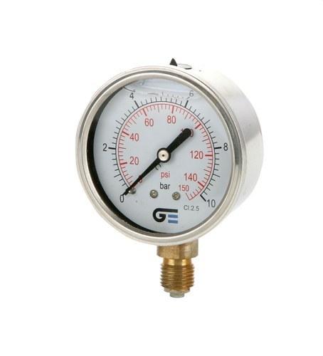 Manómetro diámetro 63 0-4 M-1/4 inoxidable