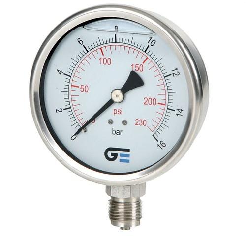 Manómetro diámetro 100 con glicerina 0-10 inoxidable