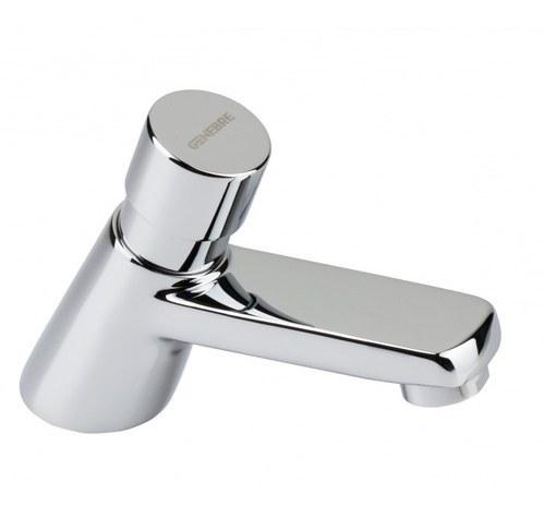 Grifo temporizado lavabo 1/2 latón cromo