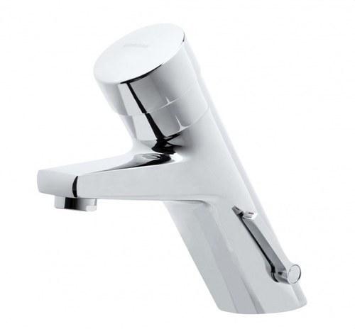 Grifo temporizado mezclador lavabo 1/2 latón cromo