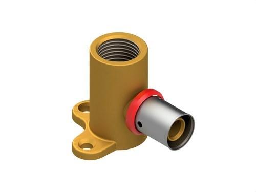 Codo base fijación AIS PEX 20x1,9 - 1/2 H de 46mm de altura