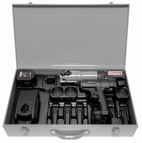Caja + máquina + batería + cargador para multimordaza de 16 a 40mm