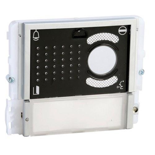 Módulo audio/vídeo 1 pulsador serie IKALL tapa negro