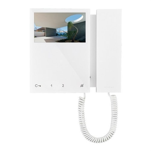 Monitor MINI con micro teléfono sistema SBTOP blanco