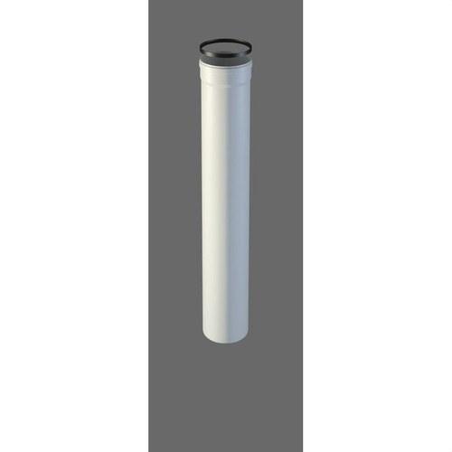 TUBO Ø 80/100 X 500 MM M/H INOX PINTADO NEGRO PELL