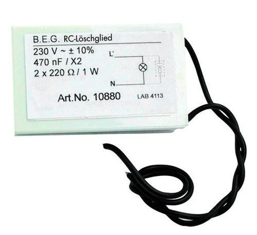 Elemento supresor corriente RC para detector de movimiento