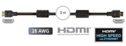 CONEXION HDMI MACHO-MACHO 28AWG 3m