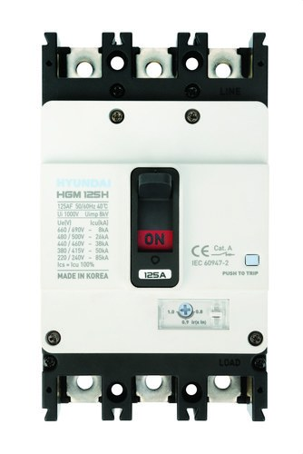 Interruptor automático caja moldeada HGM160 TREG 125A 4 polos 26kA