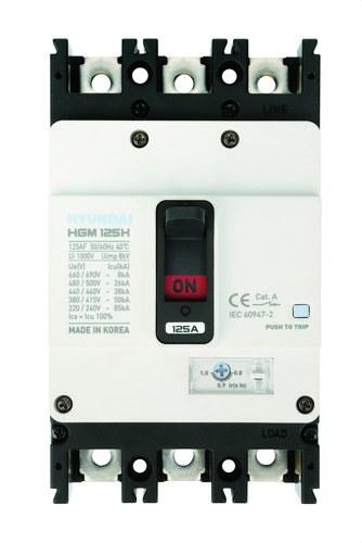 Interruptor automático caja moldeada HGM160 TREG 125A 4 polos 38kA