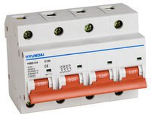 Interruptor automático HIBD125 curva C 4 polos 10kA 63A