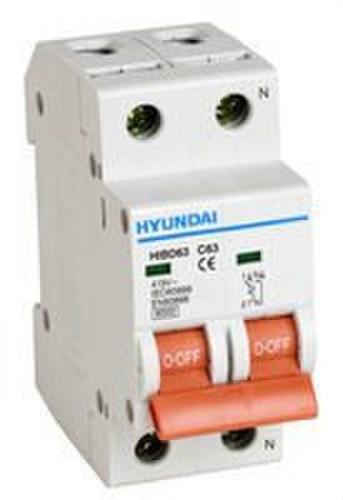 Interruptor automático HIBD63-N curva C 1 polo+neutro 6kA 6A