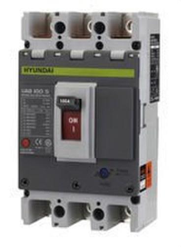 Interruptor caja moldeada terminal ajustable 4 polos 30kA 80-100A