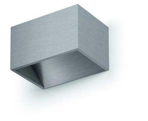 Aplique LED RETT 5W aluminio cepillado